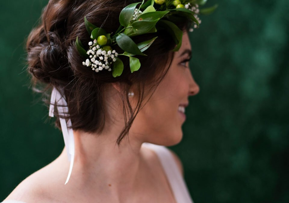 bridal wedding hair and makeup in Lawrence @ Lada